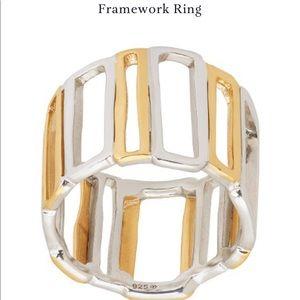 "Silpada ""Framework"" ring. .925 SS size 8"